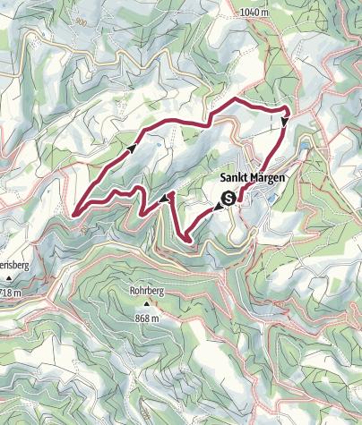 Karte / Rundwanderung mit tollen Aussichten um St. Märgen