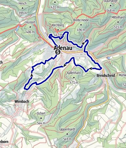 Karte / Rund um Adenau (Natur, Kultur, Action)