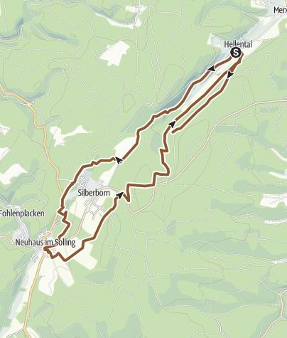 Karte / 8 km Singletrails im Hochsolling - Von Hellental nach Neuhaus