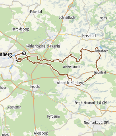 Karte / MTB Tour über den Hochlandsteig
