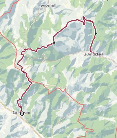 Karte / Ballon-Tour (1): Saint-Amarin - Markstein - Petit Ballon - Lautenbach