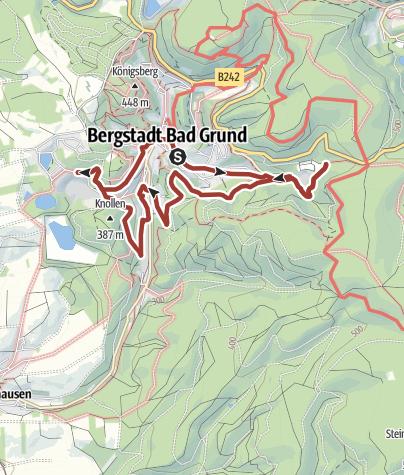 Karte / Grundner Aussicht am WasserWanderWeg Nr. 8.