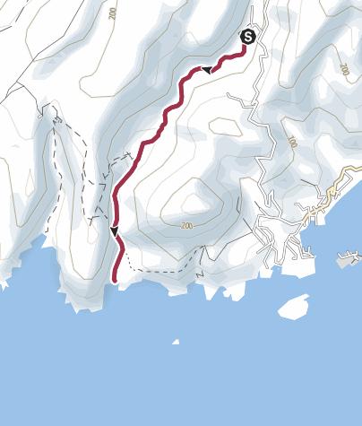 Karte / Agiofarango - Kurze Schluchtenwanderung zu einem bezaubernden Strand