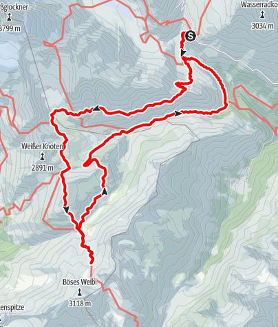 Map / Alternative Grossglockner trek - 3 days