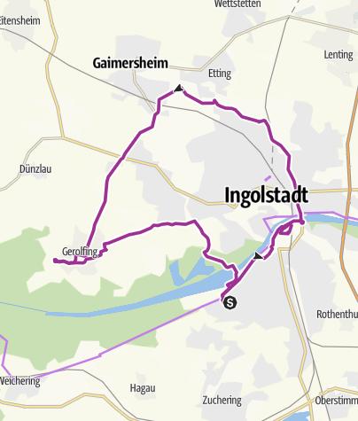Karte / 12. Juli 2016 Ingoradler Nachmittagstour ins Wasserwerk Gerolfing