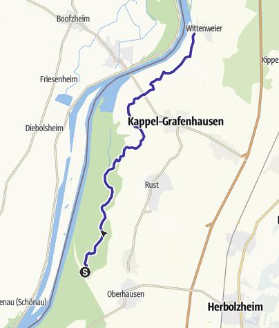 Karte / DEU - Kanu - Taubergießen (Rheinhausen - Wittenweier)