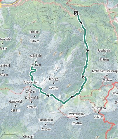 Karte / Spitzkofel via Kerschbaumeralm