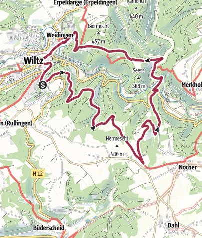 Karte / Auto-pédestre N.26 Wiltz