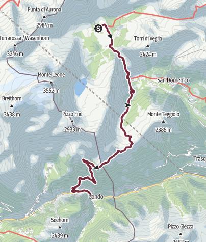 Map / GTA 06: Alpe Veglia - Gondo / Simplonpass