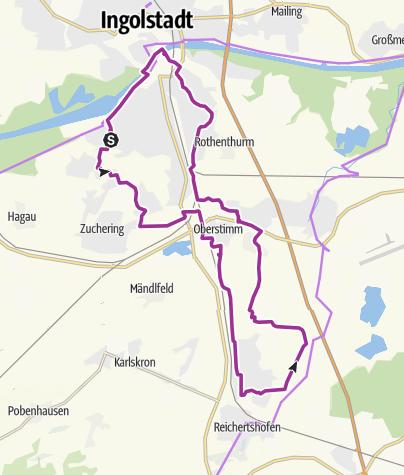 Karte / 15. Juli 2016 Ingoradler Biergartentour zum Fest der Kulturen