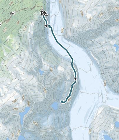 Map / Zustieg Envers Hütte
