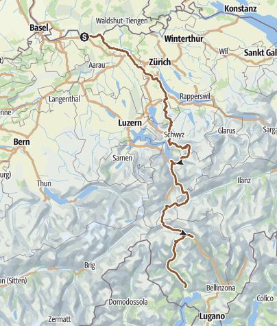 Karte Lago Maggiore Und Umgebung.Tourenvorschlag Bad Sackingen Lago Maggiore Mountainbike