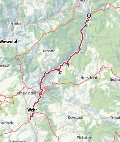 Karte / Schluchtensteig 6: Todtmoos - Wehr
