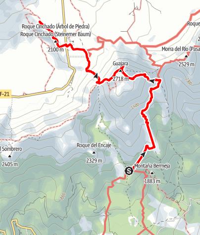 Map / Tenerife - Pajsaje Lunar to Las Canadas