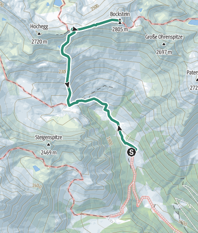 Karte / Bockstein 2805m im Kristeiner Tal