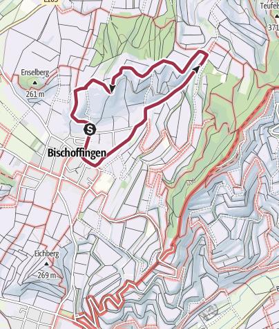 Karte / Panoramarundweg in Vogtsburg-Bischoffingen