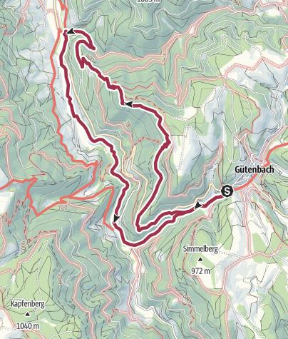 Map / Wildbach-Tour mit Start in Gütenbach
