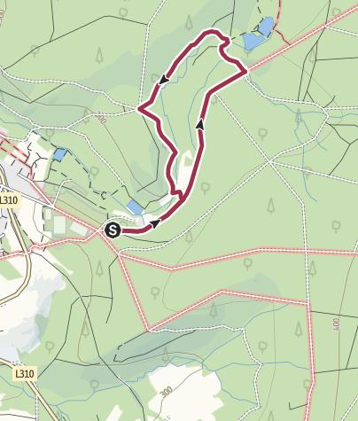 Karte / Flürchen (Rundweg mit Hund) Brexbachzusammenfluss