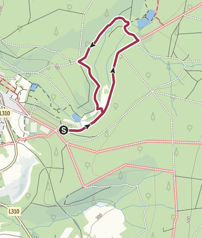 Map / Flürchen (Rundweg mit Hund) Brexbachzusammenfluss