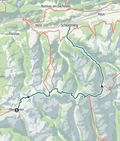 Karte / Durch die Schladminger Tauern