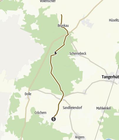Karte / Vom Gestüt Da Porta Azul in Blätz zum Hofgut Ottersburg