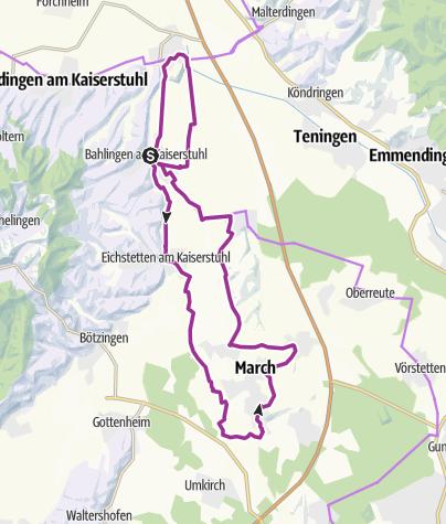 Karte / Dreisam-Tour