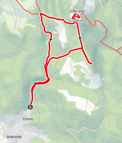 Karte / Großer Arber über Riesloch-Wasserfälle
