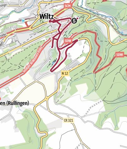 Karte / Kulturweg Oberstadt Wiltz