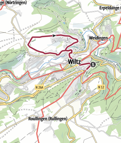 Karte / Kulturweg Unterstadt Wiltz