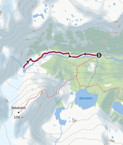Karte / Wanderung zum Gletscherarm Buarbreen