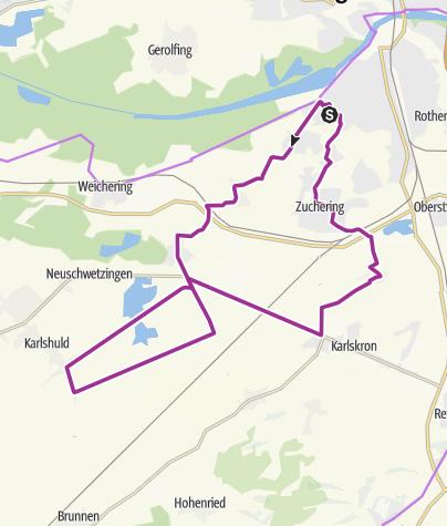 Karte / 26. Juli 2016 Ingoradler Nachmittagstour - Karlshuld