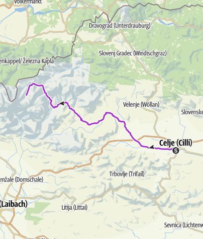 Karte / Logarska Dolina