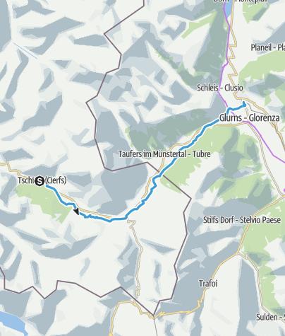 Karte / 27: Radweg Tschierv-Mals