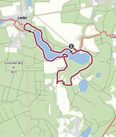 Karte / Rund um den Hellsee