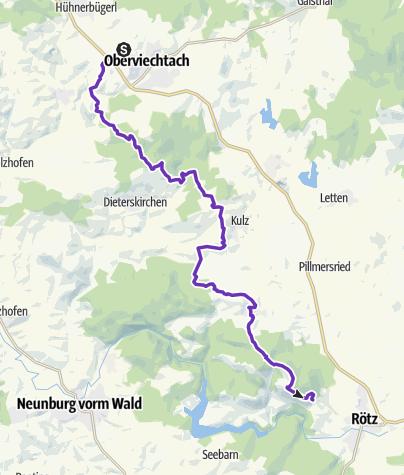 Karte / 8: Oberviechtach - Rötz