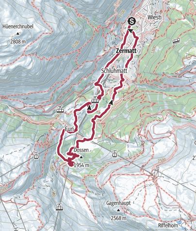 Karte / Gornerschlucht Rundtour