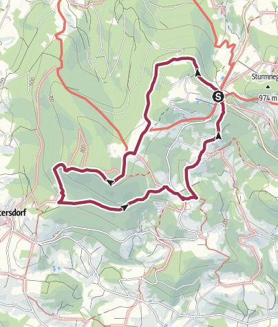 Karte / TL Langfurth - Sonnenwald - Bichelstein