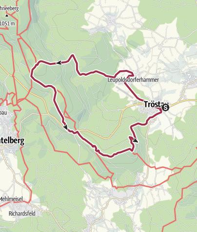 Map / Von Tröstau zum Seehaus