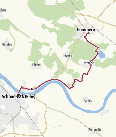 Karte / P 21   Schönebeck-Gommern [Fr. 5.5.17]