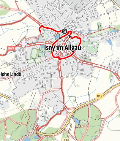 Karte / Trilogierundgang. Isny erkundet Mittelalter