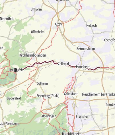 Karte / E8 Dannenfels-Pfeddersheim