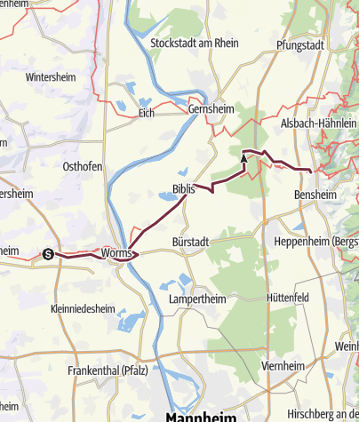 Karte / E8 Pfeddersheim-Auerbach