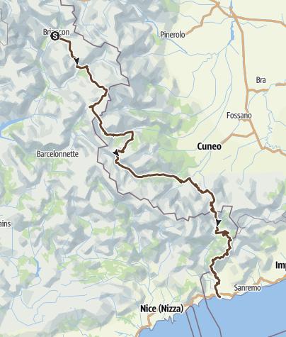 Karte / Briancon - Ventimiglia 2016