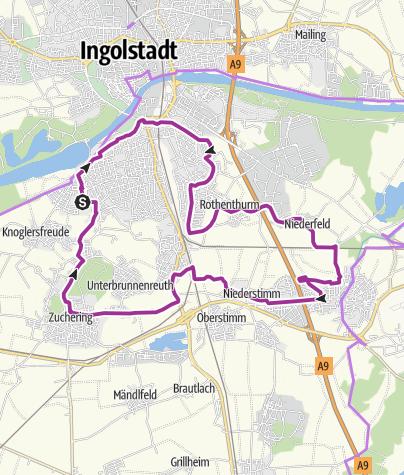Karte /  5. August 2016 Ingoradler Biergartentour Almschänke Zuchering