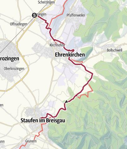 Karte / Norsingen nach Staufen