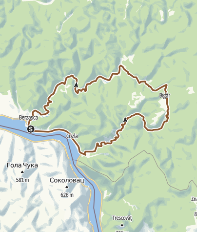 Map / Berzasca no 1 route -IPA - Bike Attack - Two rivers