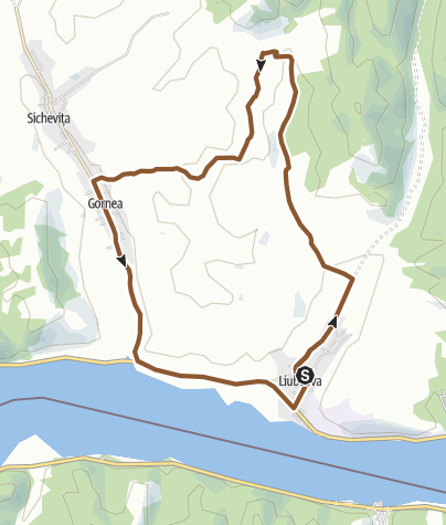 Map / Berzasca no 3 route -IPA - Bike Attack - Scattered villages route