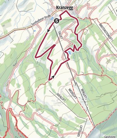Karte / Lustiger Wanderweg in Kranzegg