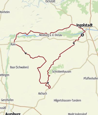 Karte / 11. August 2016 Rollertour nach Rain am Lech