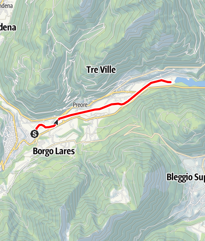 地图 / Fiume Sarca dalla confluenza Torrente Arnò - Bacino Ponte Pià A1